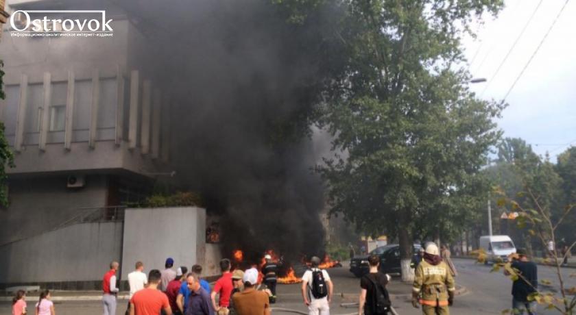 Журналисты Интера продемонстрировали последствия пожара в офисе телеканала